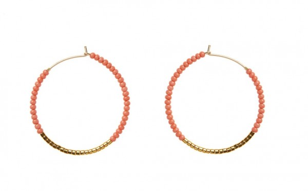 Sidai Designs Ohrringe Hoop Small Salmon Gold