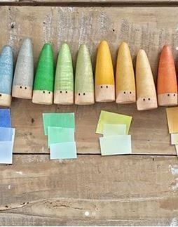 Grapat Holzfiguren Sticks