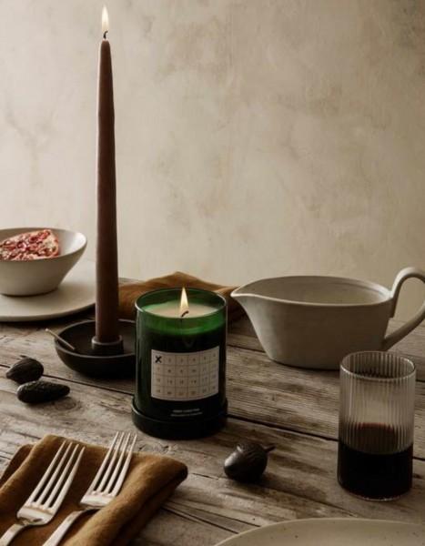 Ferm Living Bowl Candle Holder Single Black