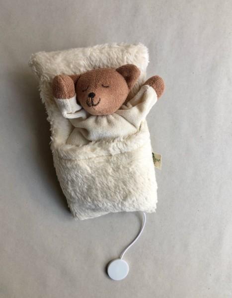 Nanchen Natur Spieluhr Bär im Schlafsack