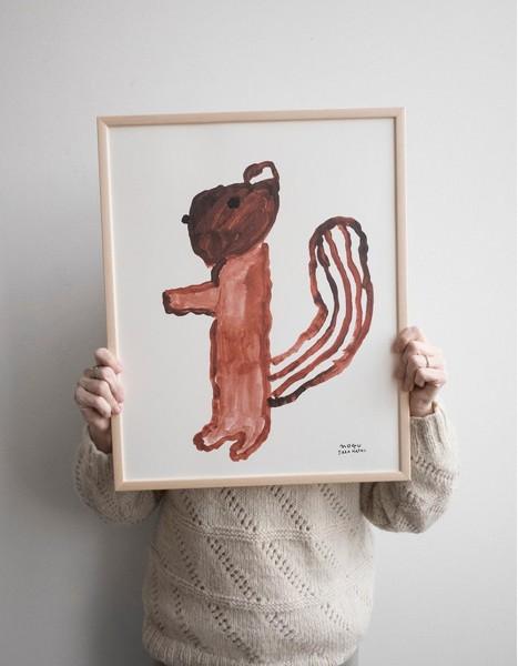 Fine Little Day Poster Squirrel