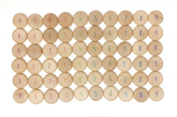 Grapat Holz Münzen zum Zählen