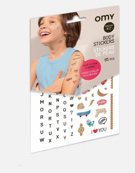 Omy Body Sticker Buchstaben