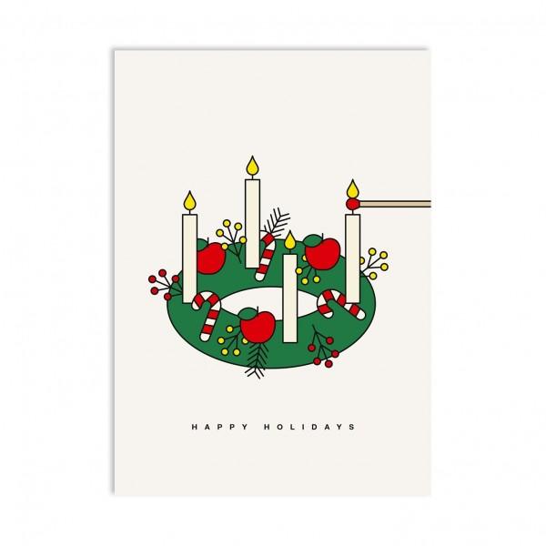 redfries Lightshow Postkarte Din A6