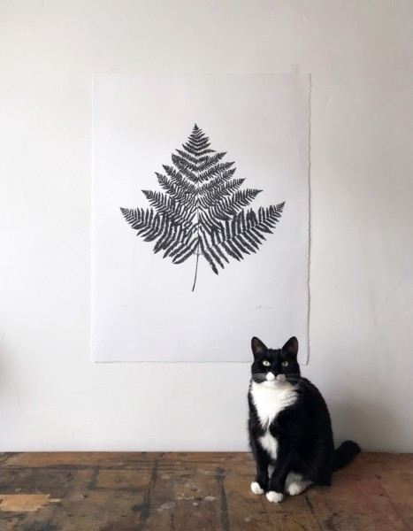MR Studio London Lino Print Farn Blatt