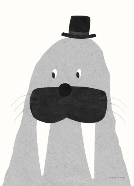 Walnut & Walrus Poster Walrus