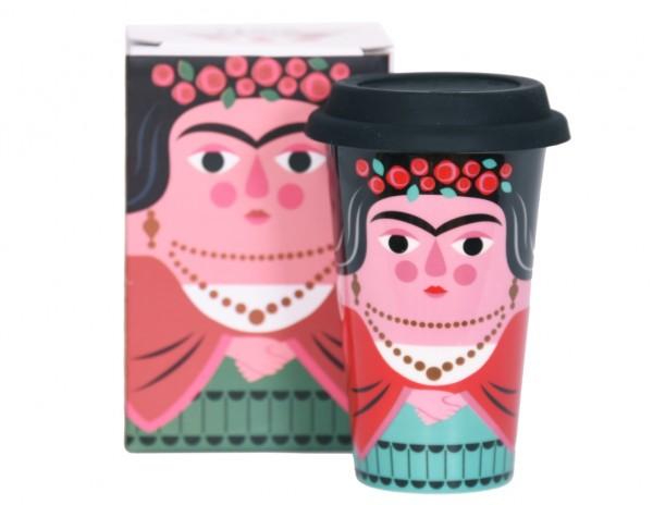 Omm Design Travel Mug Frida Kahlo
