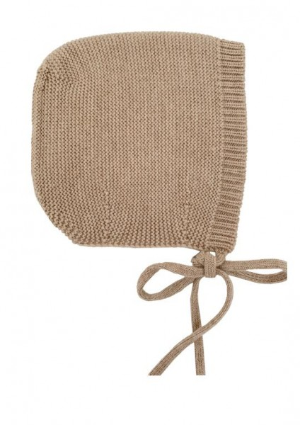 Hvid Strick Mütze Dolly sand medium