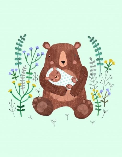 Petit Monkey Karte Mama und Baby Bär