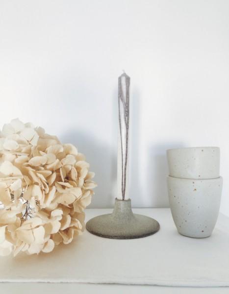 Viki Weiland Kerzenhalter grau