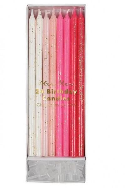 Meri Meri Kerzen Pink Glitter