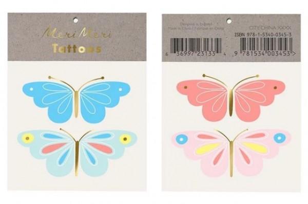 Meri Meri Tattoos Neon Butterfly