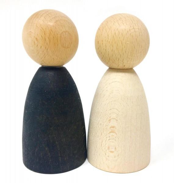 Grapat Holzfiguren 2 Erwachsene Nins helles Holz