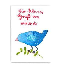 Frau Ottilie - Postkarte Ein Kleiner Gruß