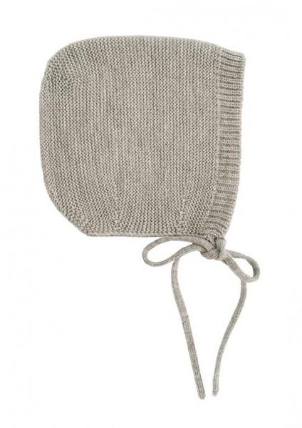 Hvid Strick Mütze Dolly grey medium
