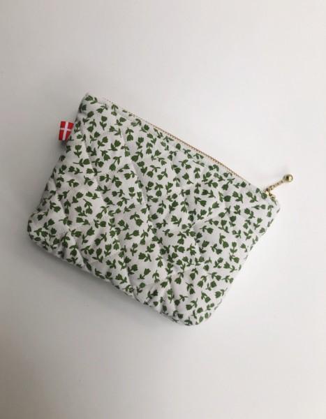 Vita Vass Kosmetiktasche groß weiß mit grünen Tulpen