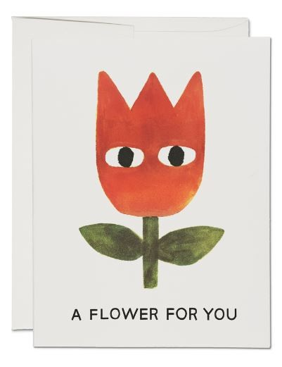 Karte Red Cap Cards Eine Blume