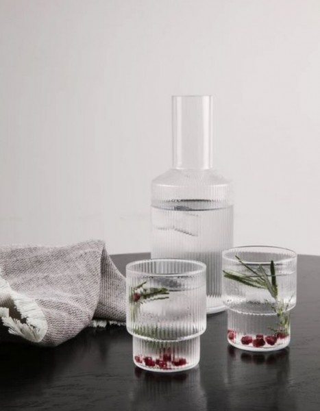 Ferm Living Ripple Glas Set of 4