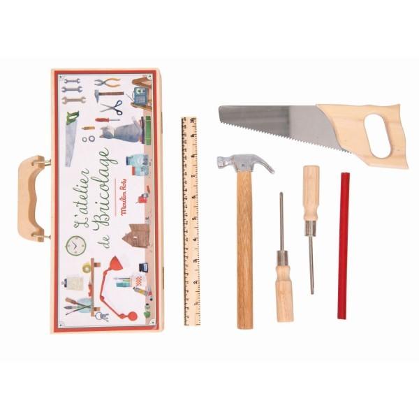 Moulin Roty Werkzeugkasten 6 Werkzeuge