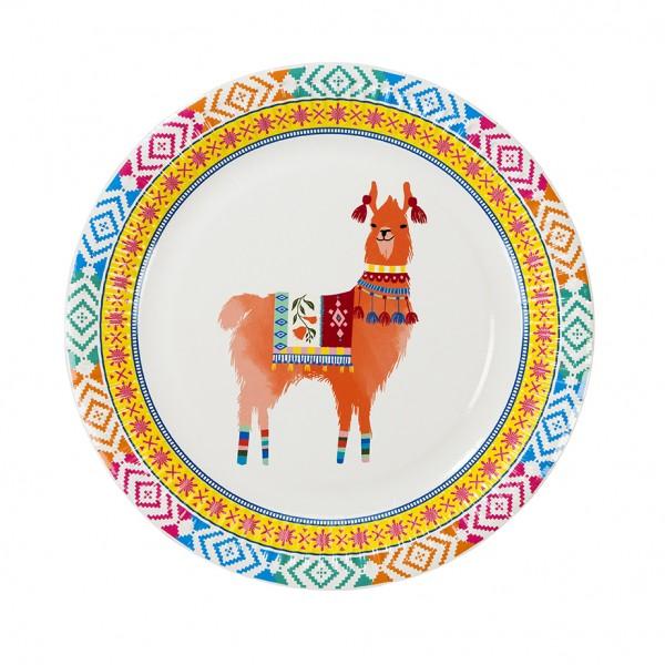 Pappteller 12 er Set Boho Lama