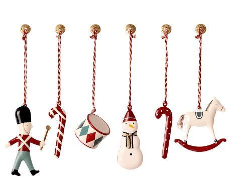 Maileg Anhänger Set Ornamente klassisch mit Schachtel