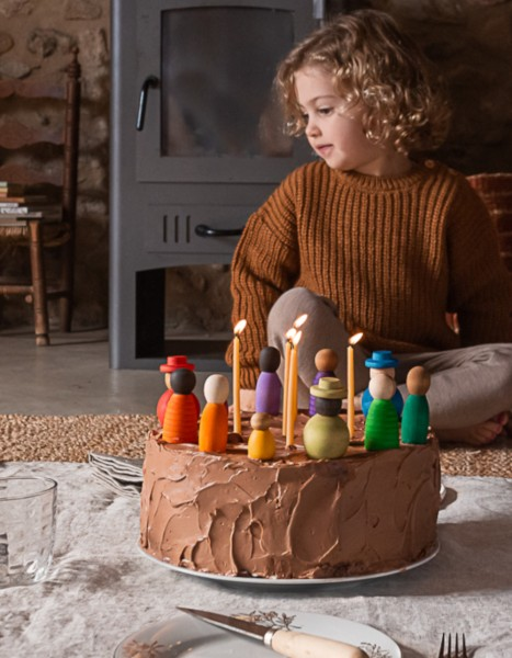 Grapat Holzfiguren Together bunte Familie