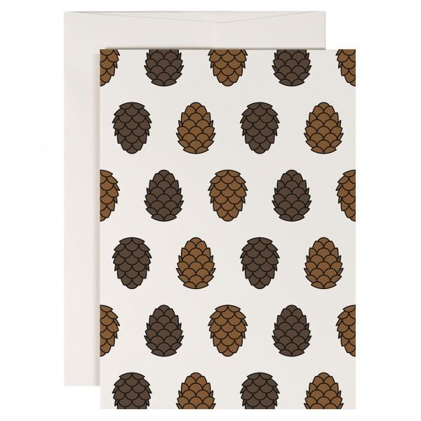 redfries Pine cone Klappkarte mit Umschlag