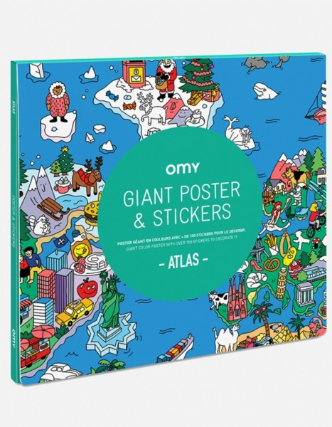 Omy Atlas Poster mit Sticker