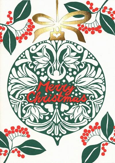 Summer Will Be Back Karte Merry Christmas Ball