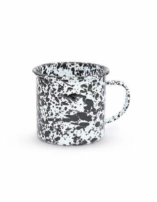 Crow Canyon Home Emaille XLTasse Marmor schwarz
