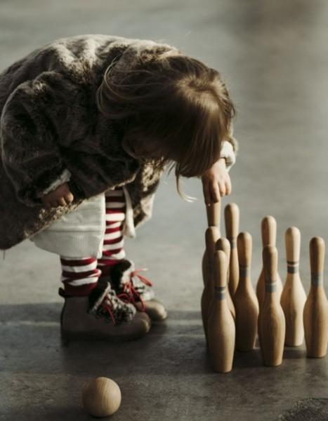 Woodenstory Bowling Set Natur