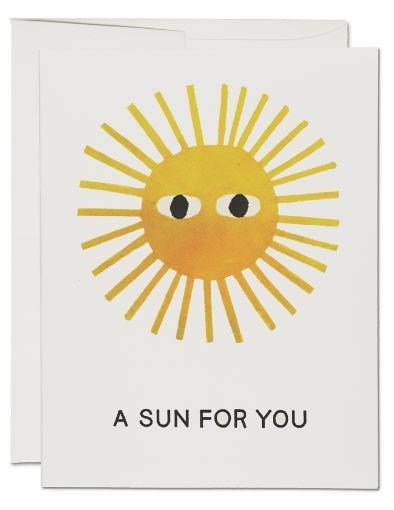 Karte Red Cap Cards Eine Sonne