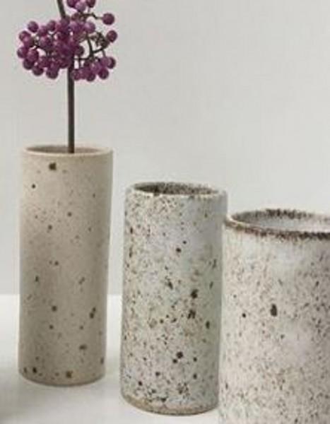 Viki Weiland Vase Zylinder mittel