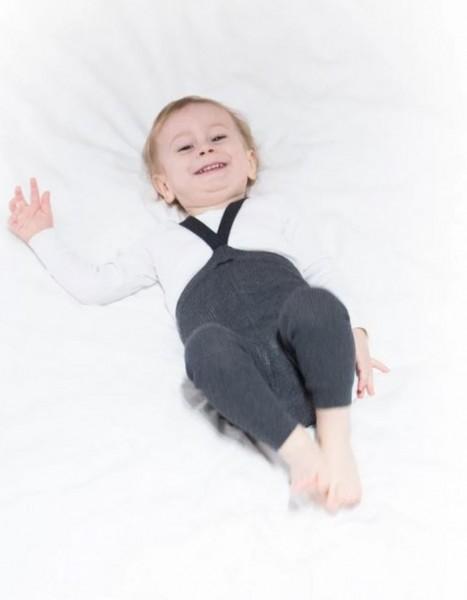 Silly Silas Strumpfhose mit Trägern ohne Füße dark grey