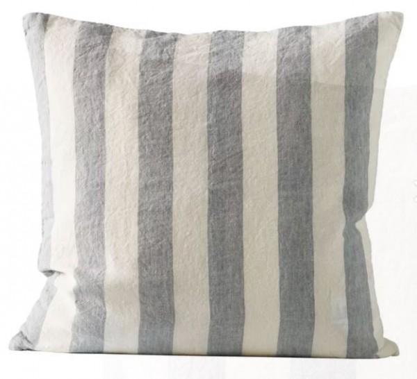 Tine K Home Striped Leinen Kissen Bezug 50 x 50