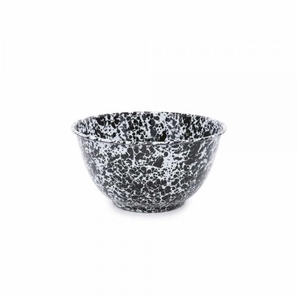 Crow Canyon Home Emaille Salatschüssel Marmor schwarz