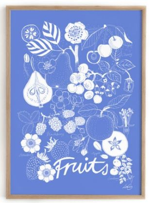 Summer Will Be Back Poster Fruits