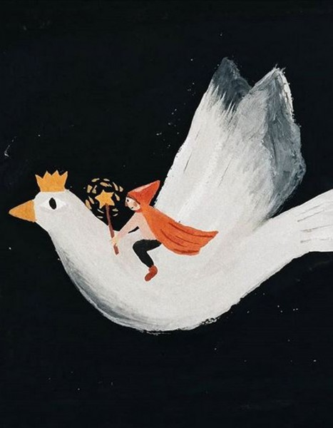 Tijana Draws Klappkarte Bird Riding