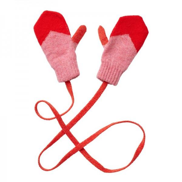 Donna Wilson Kinder Handschuhe Zig Zag Rot