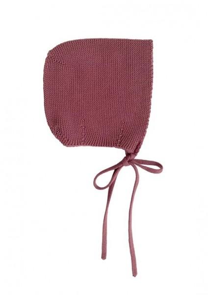 Hvid Strick Mütze Dolly rosewood medium