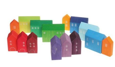 Grimm´s kleine Häuser handbemalt