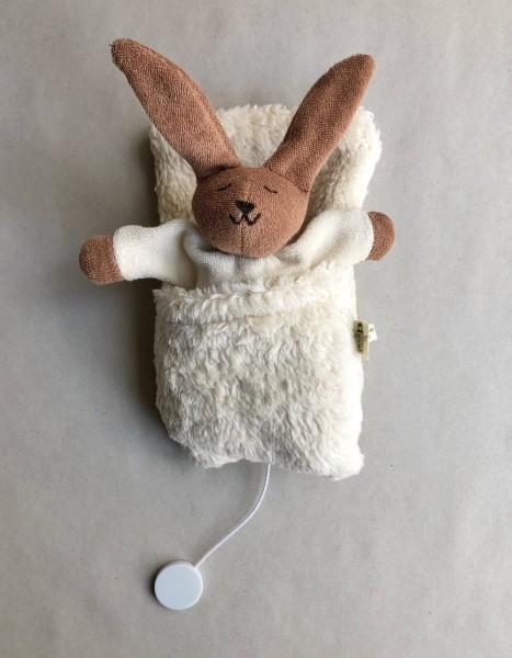 Nanchen Natur Spieluhr Hase im Schlafsack