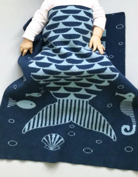 Donna Wilson Decke Meerjungfrau Lammwolle