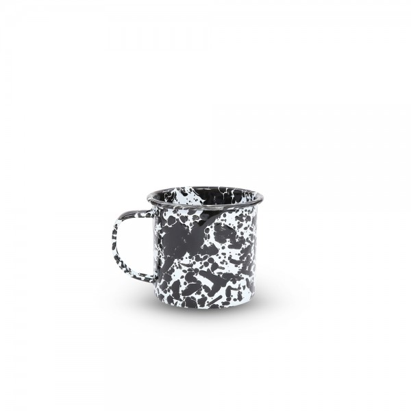 Crow Canyon Home Emaille Tasse M Marmor schwarz