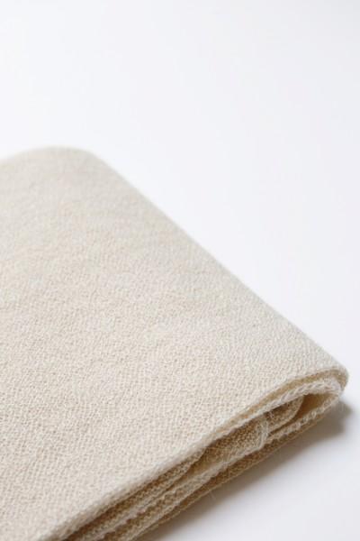 Hvid Strick Decke Billie Creme