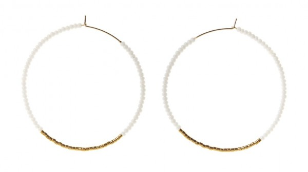 Sidai Designs Ohrringe Hoop Large White Gold