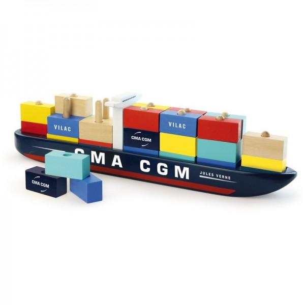 Vilac Stapelspiel Containerschiff