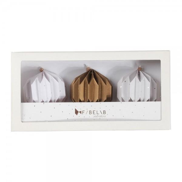 Fabelab Paper Globes Ornamente