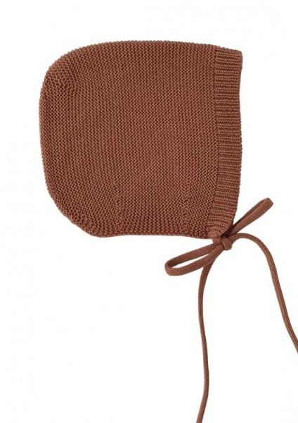 Hvid Strick Mütze Dolly Brick Large