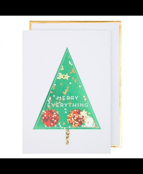 Meri Meri Weihnachtskarte Christmas Tree Shaker